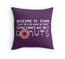 Team Donuts Throw Pillow