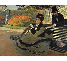 Claude Monet - Camille Monet On A Garden Bench. Impressionism,Vintage Gift Photographic Print