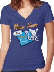 Mister Handy Women's Fitted V-Neck T-Shirt