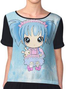 Cute little anime girl Chiffon Top