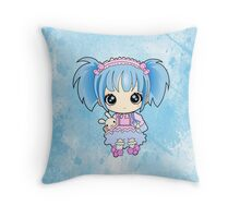 Cute little anime girl Throw Pillow