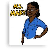 Mrs. Mary Canvas Print