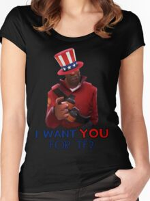 I want you for TF2! - Team Fortress 2 Women's Fitted Scoop T-Shirt