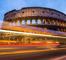 The Colosseum at dusk by MIRCEA COSTINA