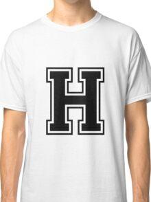 Letter - H  (black) Classic T-Shirt