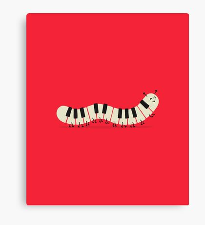 Caterpiano Canvas Print