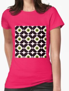 Retro Flower - Lime Green Womens Fitted T-Shirt