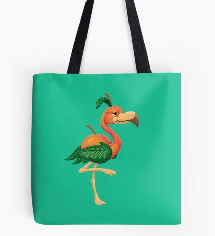 Peach Flamingo Tote Bag