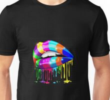 Psychedelic Kissable Lips Unisex T-Shirt