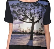 Tree in sunshine Chiffon Top