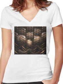 Chromium Women's Fitted V-Neck T-Shirt