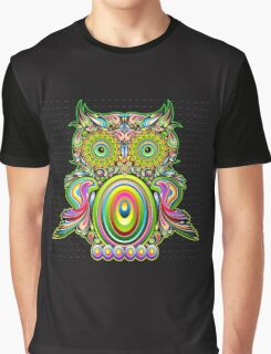Cute Psychedelic Owl Merchandise Graphic T-Shirt