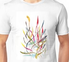 Unknown Flower 4 - Small Abstract Landscape, watercolor, ink & pencil on paper  Unisex T-Shirt