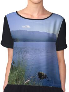 Blue lake and sky Chiffon Top