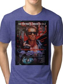 Vintage Japanese terminator movie poster Tri-blend T-Shirt