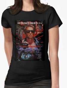 Vintage Japanese terminator movie poster Womens Fitted T-Shirt
