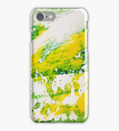Seeing colour - Sharp green iPhone Case/Skin