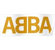 ABBA LOGO GOLD Poster
