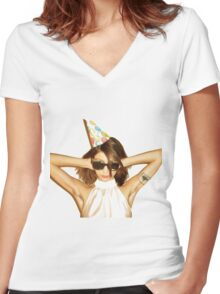 Colleen Green Women's Fitted V-Neck T-Shirt