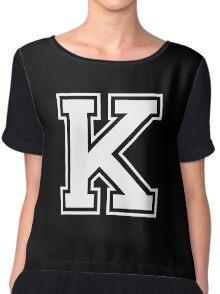 Letter - K (white) Chiffon Top