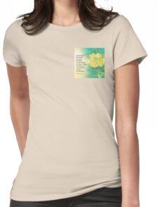 Serenity Prayer Peony Yellow Turquoise Womens Fitted T-Shirt