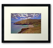 Magical Keem Beach Crowned by clouds from Heaven Framed Print