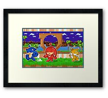 Sonic Chao and Friends Framed Print