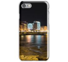 Black Night, Bright Lights - Sliema's Famous Waterfront iPhone Case/Skin