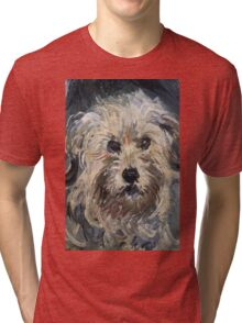 Claude Monet - Dog , Fine Artб Impressionism Tri-blend T-Shirt