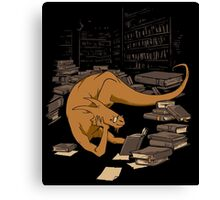 The Book Wyrm Canvas Print