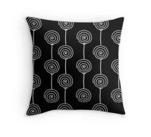 Windmills - Black Throw Pillow