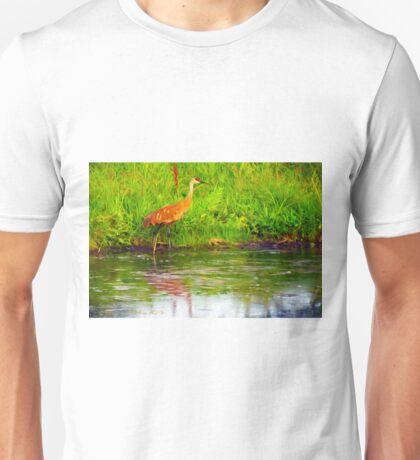 """""""Sand Hill Crane"""" Unisex T-Shirt"""