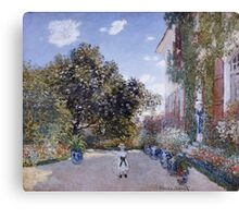 Claude Monet - Garden Of The Artist At Argenteuil 1873 Impressionism Canvas Print