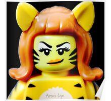 Lego Tiger Woman minifigure Poster