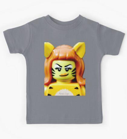 Lego Tiger Woman minifigure Kids Tee