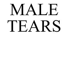 Male Tears Photographic Print