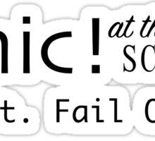 Panic! At The School Sticker