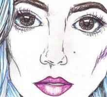 halsey pen portrait  Sticker