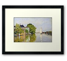 Claude Monet - Houses On The Achterzaan Impressionism Framed Print