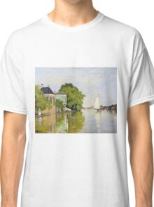 Claude Monet - Houses On The Achterzaan Impressionism Classic T-Shirt