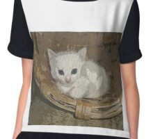Little cat in a basket Chiffon Top
