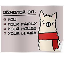 Dishonor on Your Llama! Poster