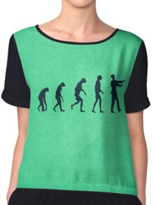 Evolution of Zombies (Zombie Walking Dead) Chiffon Top
