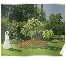 Woman in a Garden 1867 -Claude Monet  Impressionism Poster