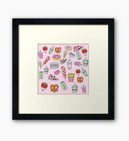 Dreaming Of Junk Food Framed Print