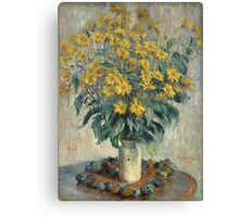 Flowers -Claude Monet - Jerusalem Artichoke Flowers 1880 Impressionism Canvas Print