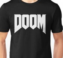 DOOM Clean White Logo Unisex T-Shirt