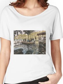 Summer - Claude Monet - La Grenouillere Impressionism Women's Relaxed Fit T-Shirt
