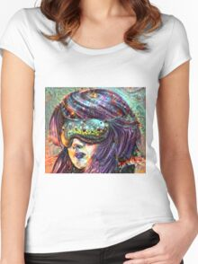 Portrait of the Soul Seer Women's Fitted Scoop T-Shirt