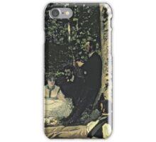 Picnic - Claude Monet - Le Dejeuner Sur L Herbe 1865 iPhone Case/Skin